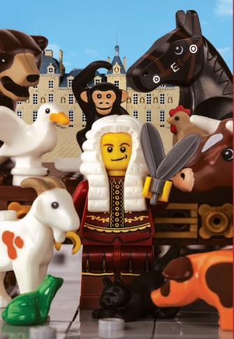 """LEGO """"raconte"""" les Fables de la Fontaine du 24 juin 2017 au 23 juin 2018 au Château de Cheverny."""