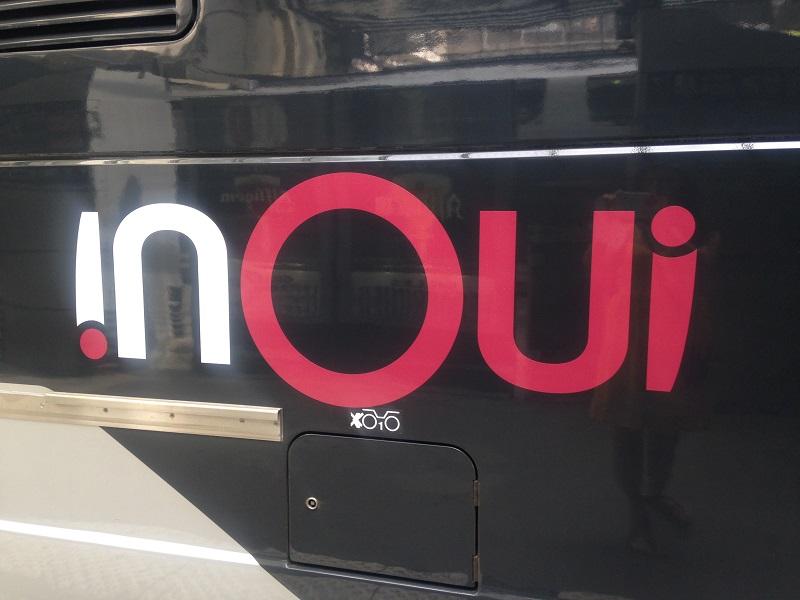 Nous avons pu découvrir les nouveaux trains floqués inOUI (c) Johanna Gutkind