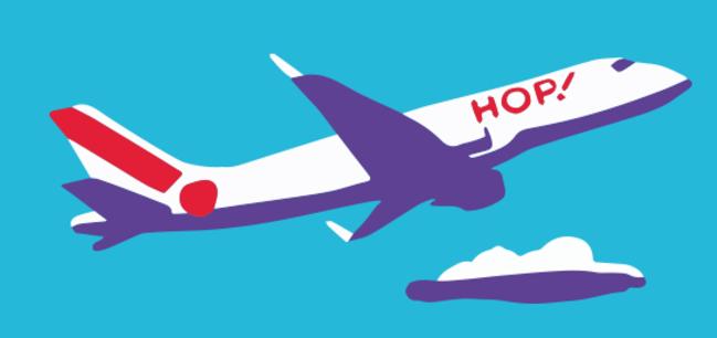 La grève des pilotes pourrait perturber le programme de la compagnie aérienne du 3 au 8 juillet 2017 - DR : Hop.com