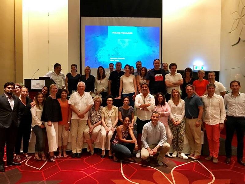 La convention des franchisés Havas Voyages, qui se sont réunis à Abu Dhabi - DR