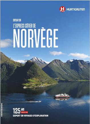 Couverture de la brochure Norvège 2018/2019 d'Hurtigruten - DR : Hurtigruten