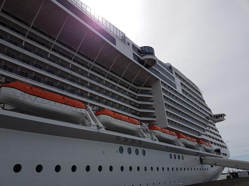 Entre 2017 et 2020, pas moins de 6 nouveaux navires entreront dans la flotte, dont le MSC Meraviglia livré le 31 mai dernier aux chantiers STX, dont le baptême a eu lieu au Havre ce 3 juin 2017 - DR : C.E.