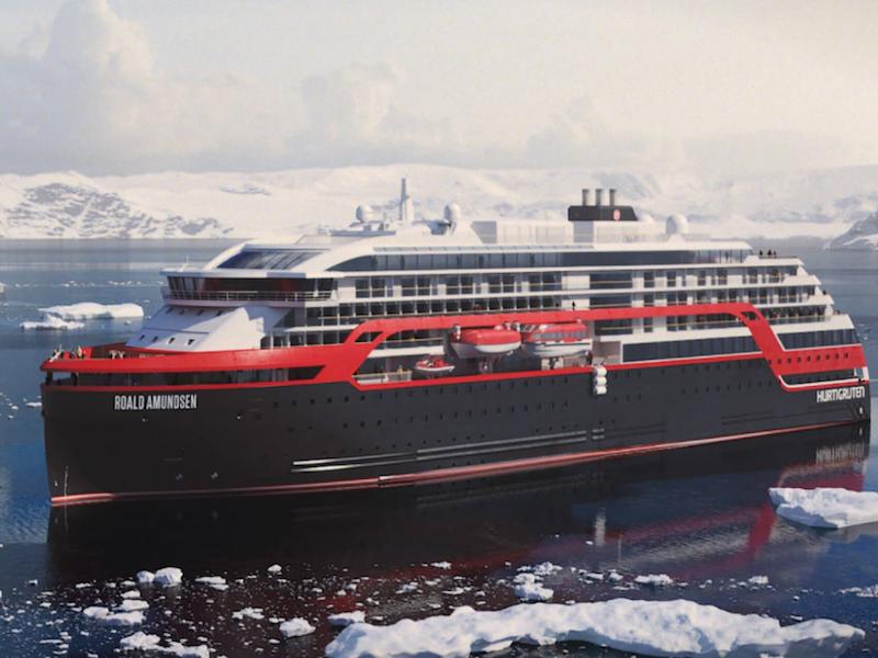 Avec le MS Roald Amundsen, Hurtigruten renforcera son offre de croisières d'expéditions sur l'Antarctique © DR Hurtigruten