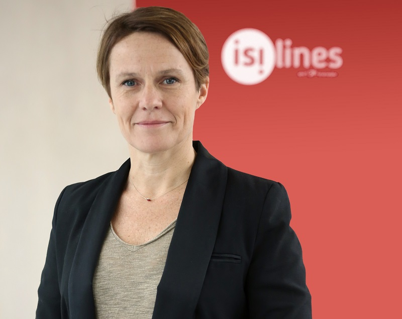 Angélique Mantel est la nouvelle directrice marketing, communication, CRM et digital d'isilines - DR : isilines