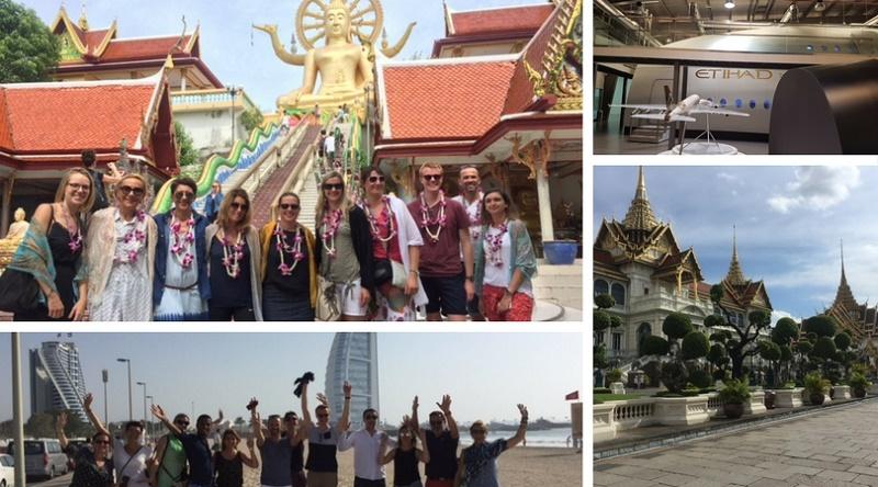La photo du groupe en Eductour à Abu Dhabi, Dubaï et en Thaïlande - DR