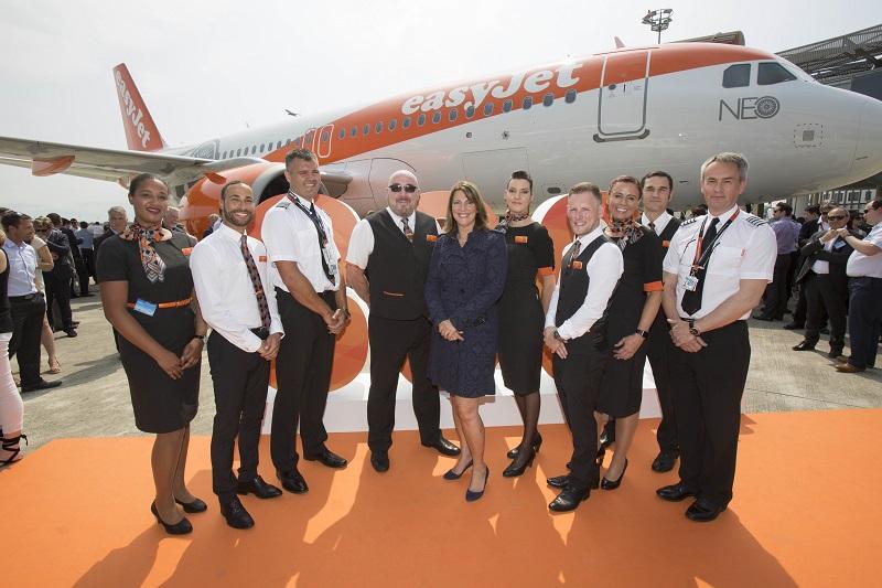 Livraison du premier A320neo d'easyjet. Cérémonie à Toulouse - DR