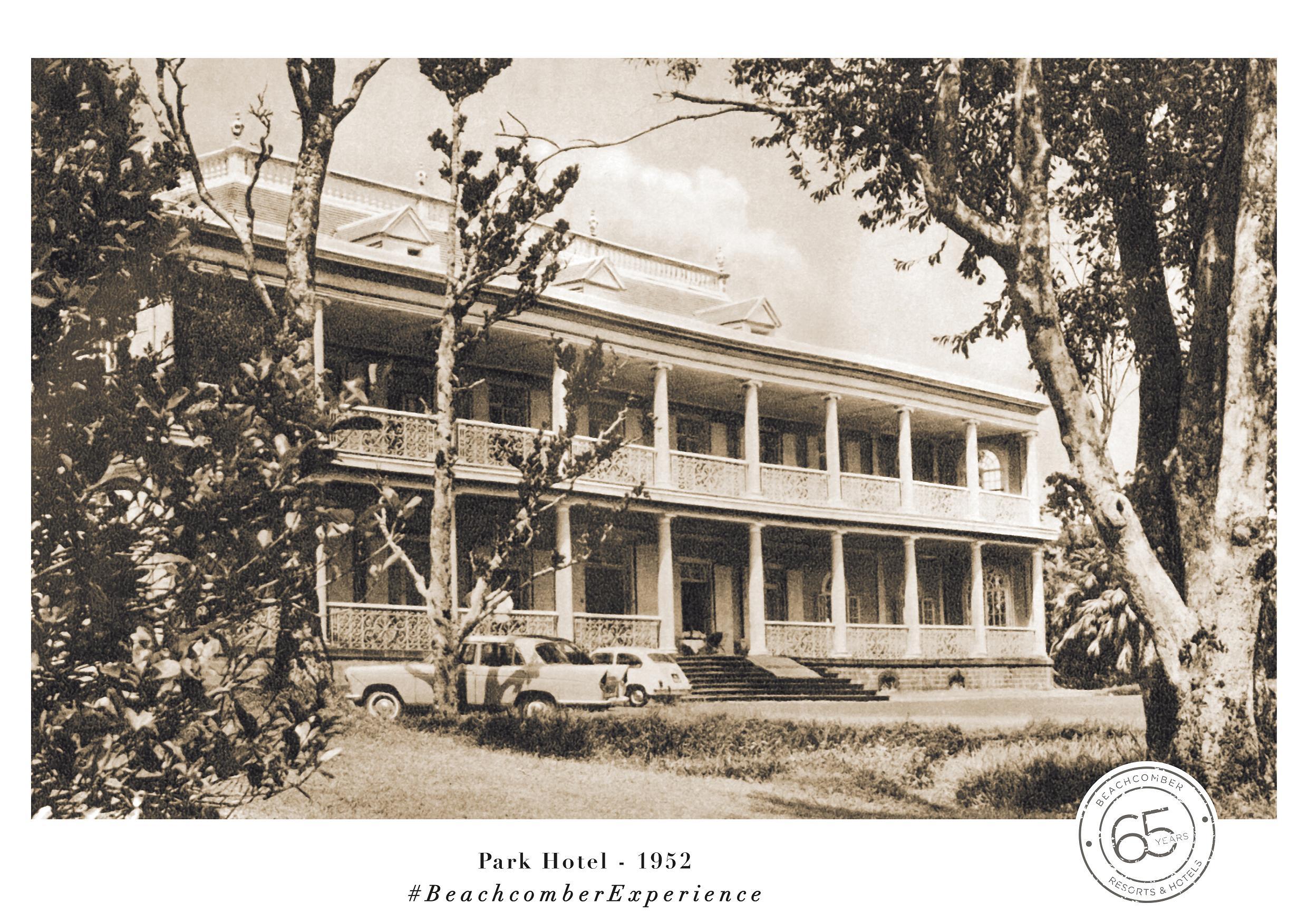 Ouvert en 1952 et premier hôtel de standard international de l'île, le Park Hotel a vocation à accueillir passagers et équipages de Qantas en transit - DR : Beachcomber Resorts & Hotels