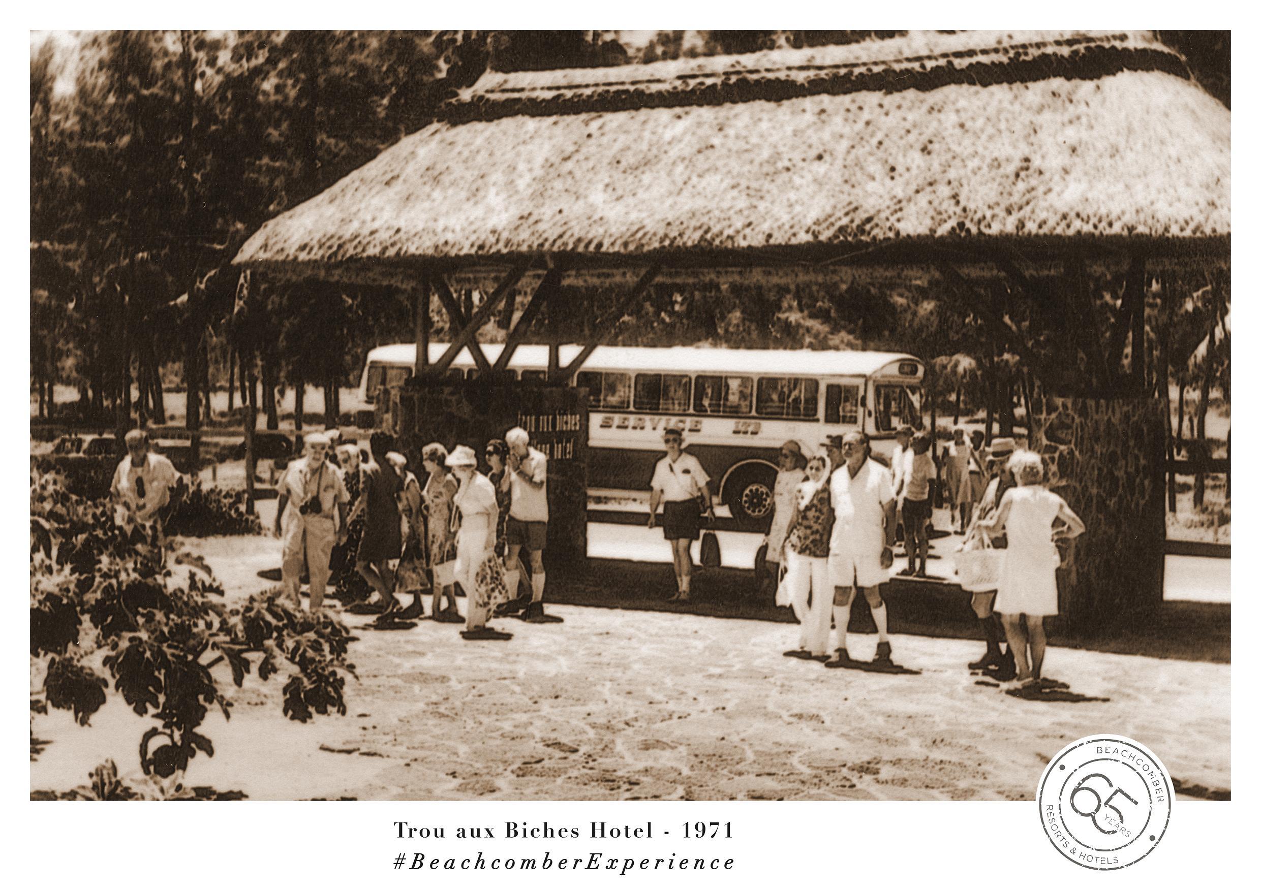 1971, année d'ouverture du Trou-aux-Biches Village Hotel, qui cultive aujourd'hui comme hier une clientèle de véritables aficionados - DR : Beachcomber Expérience