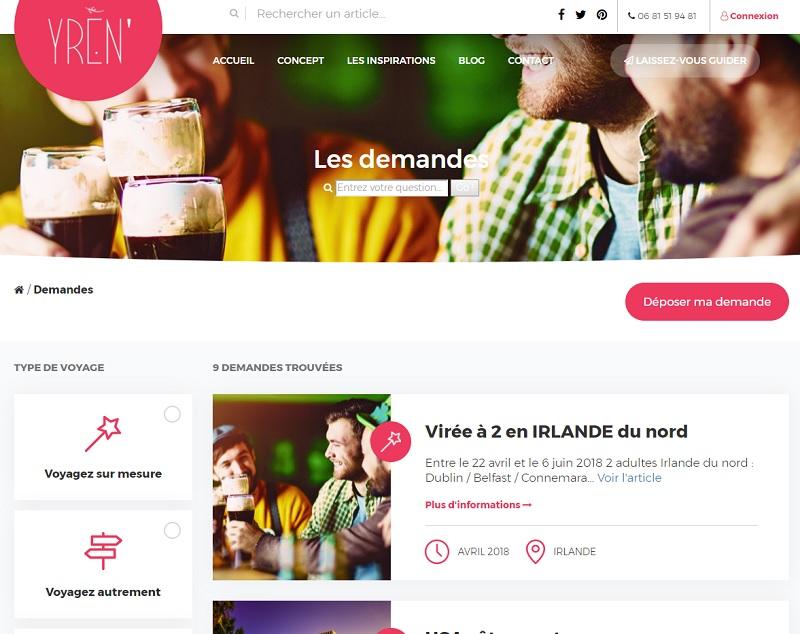 Le site Yren' se veut une place de marchés pour les professionnels du tourisme - DR