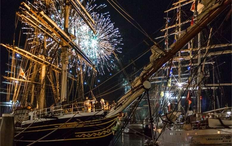 Les plus beaux et grands navires du monde seront à Bordeaux pour Bordeaux Fête le Vin 2018 - Photo : Bordeaux Fête le Vin