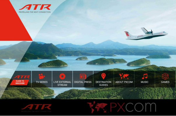 PXCom propose une nouvelle expérience de divertissement en vol - DR : PXCom