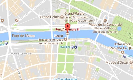 L'accident s'est produit sous le tunnel du Pont Alexandre III
