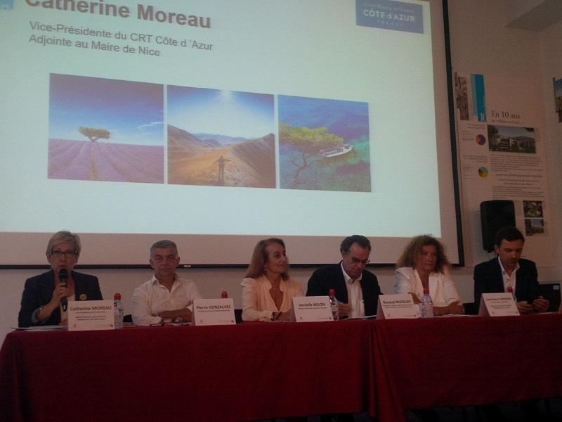 Le CRT et différents professionnels du tourisme se réunissaient ce 26 juin 2017 pour discuter des atouts de la région Provence-Alpes-Côte d'Azur et des actions à mener pour accroître la fréquentation touristique sur le territoire. DR. AR