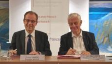 Christian Mantei et Loïc Niepceron lors de la signature de la convention - DR
