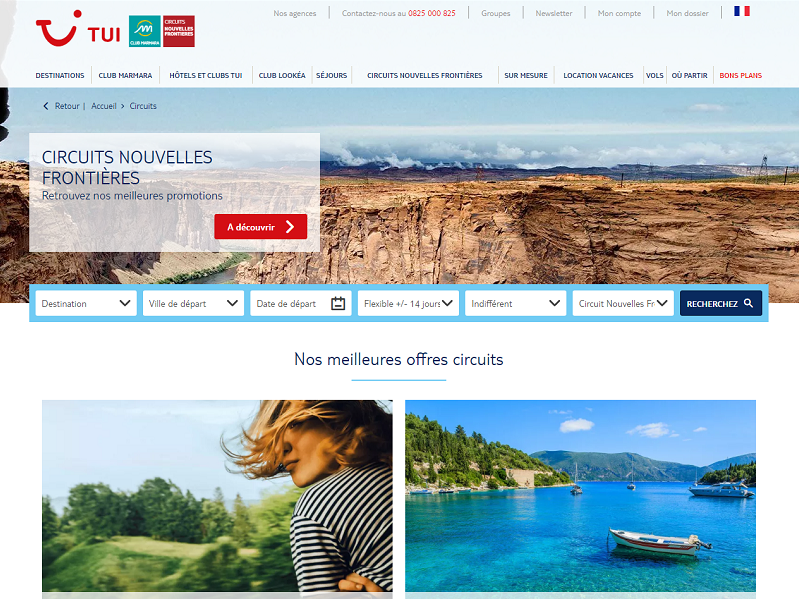 La marque Nouvelles Frontières s'apprête à fêter son 50e anniversaire - Capture d'écran