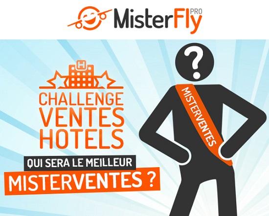 MisterFly lance un challenge de ventes sur les hôtels