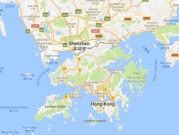 Le Président chinois est actuellement en visite à Hong Kong - DR : Google Maps