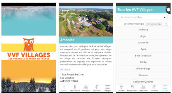 L'application mobile gratuite de VVF Villages est pour le moment uniquement disponible sur Google Play - DR : VVF Villages