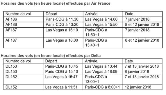 CES Las Vegas 2018 : Air France et Delta mettent en place 12 vols spéciaux
