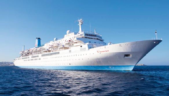 Le Thomson Spirit est affrété par Thomson Cruises depuis 2003 - Photo : Celestyal Cruises