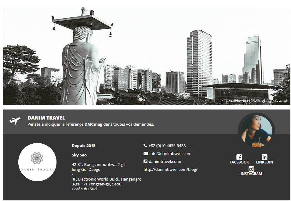Danim Travel, réceptif Corée du Sud