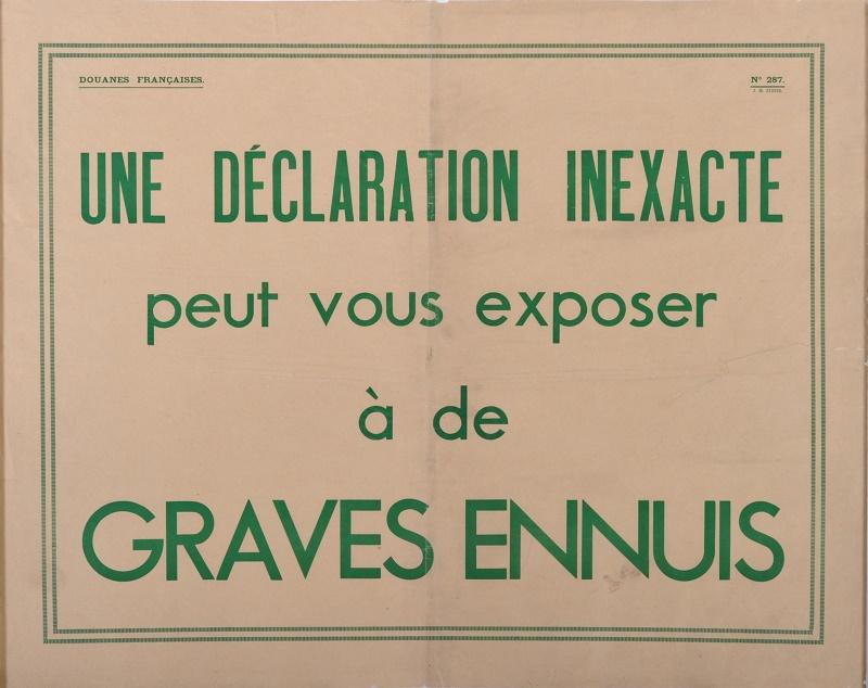 DR : Musée national des douanes, France - Alban Gilbert