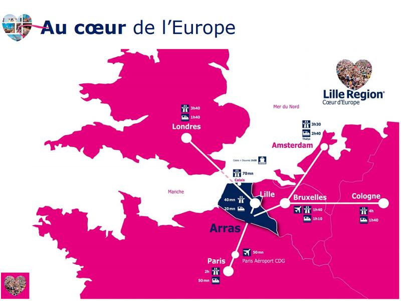Le bureau régional des congrès des Hauts-de-France mise fortement sur l'accessibilité de la région pour convaincre les organisateurs d'événements britanniques - DR : Nord Convention Bureau