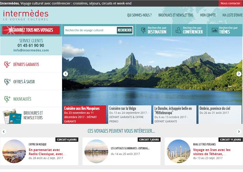 Le nouveau site Internet d'Intermèdes va servir de modèle au fonctionnement du futur portail en ligne de Terre Entière - Capture d'écran