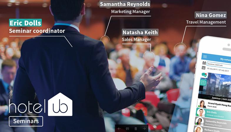 L'application Hotelub permet désormais aux participants d'un séminaire de se connecter entre eux - DR : Hotelub