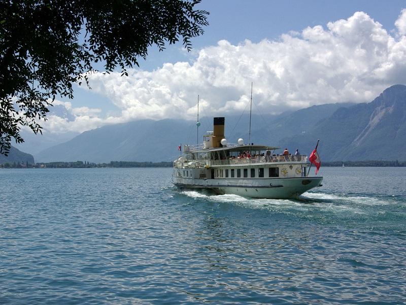 La croisière à bord d'un antique bateau à vapeur, doublée des visites de Thonon-les-Bains, Montreux et Vevey, offrent l'opportunité d'un séjour zen et réjouissant - DR : J.-F.R.