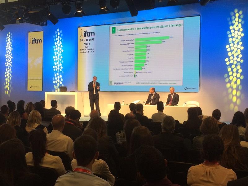 Le baromètre présenté par Guy Raffour à l'occasion de l'IFTM Top Resa - DR