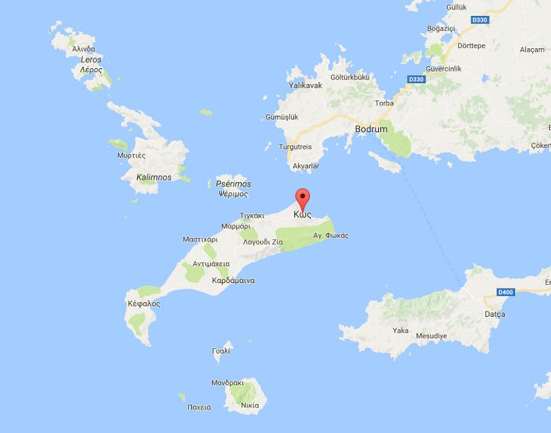 Suite au séisme qui a frappé l'Ile de Kos, seuls les vieux bâtiments du centre-ville de Kos ont subi des dégâts - DR