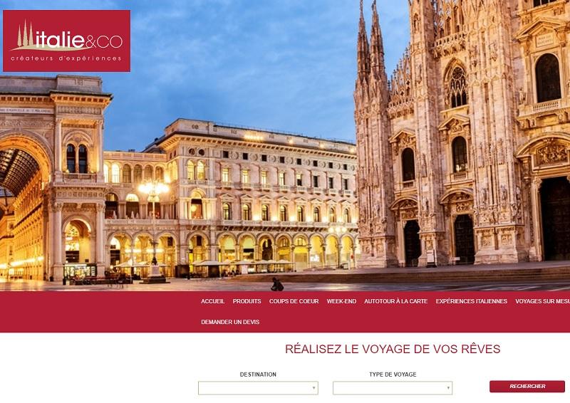Comptoirs italiens, showroom, éductour, nouveaux combinés... Italie & Co planche sur de nombreux projets pour la rentrée - DR : Capture d'écran Italie & Co