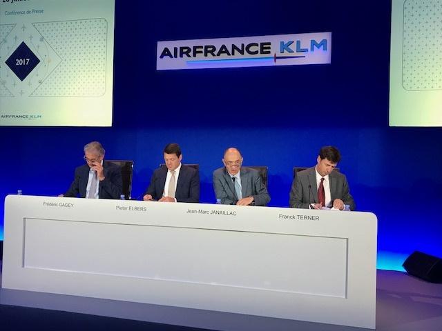 Air France-KLM présente ses résultats semestriels ce vendredi 28 juillet 2017 - Photo : D.G.