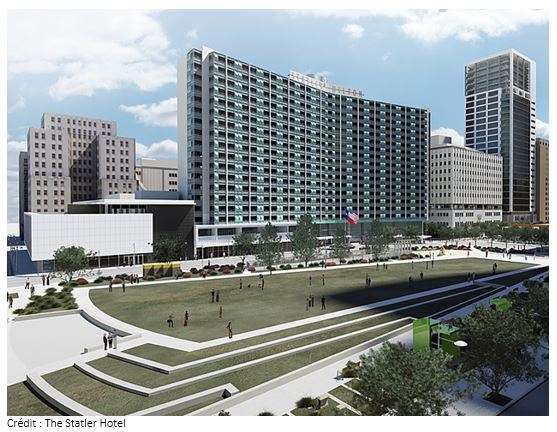 Dallas : l'iconique hôtel The Statler revient dans les résas