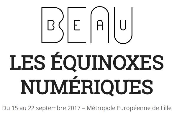 Le festival se veut un hommage aux arts numériques à Lille - DR : Capture d'écran festivalbeau.com