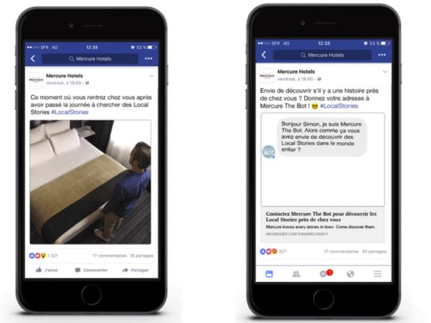 Les bots envahissent le secteur touristique. La marque Mercure a lancé récemment son BOT, solution de messagerie instantanée disponible sur Facebook et Messenger. /photo Mercure