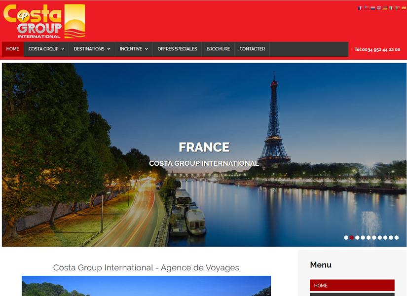Costa Group International a décidé de quitter la France - Capture d'écran Costa Group