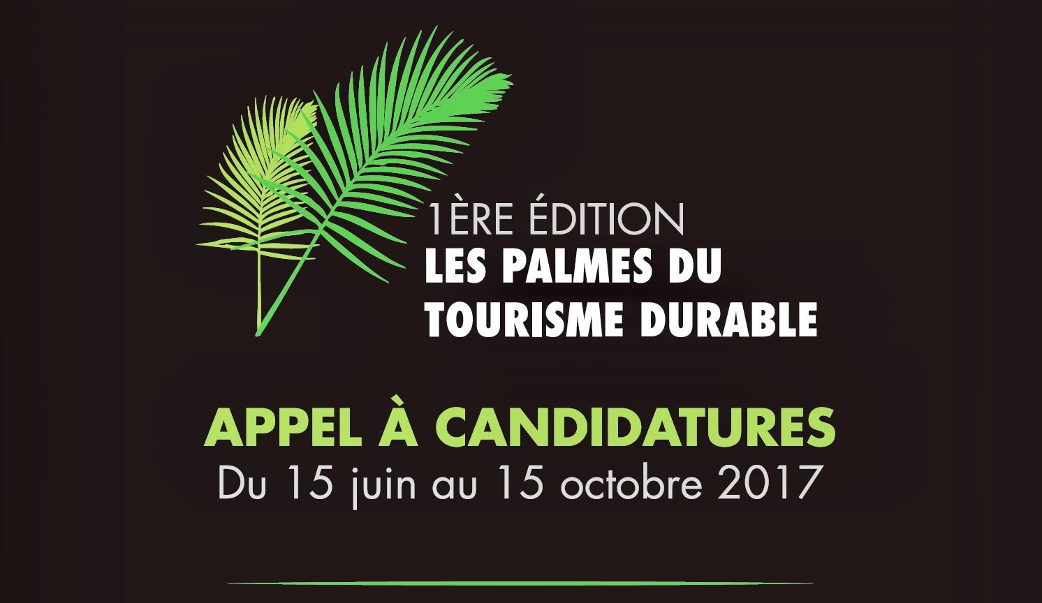 Les candidats ont jusqu'au 15 octobre 2017 pour déposer leur dossier sur le site Internet : http://palmesdutourismedurable.com - DR