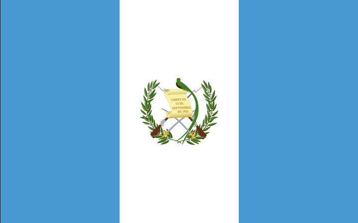 Drapeau du Guatemala - DR : Wikipedia