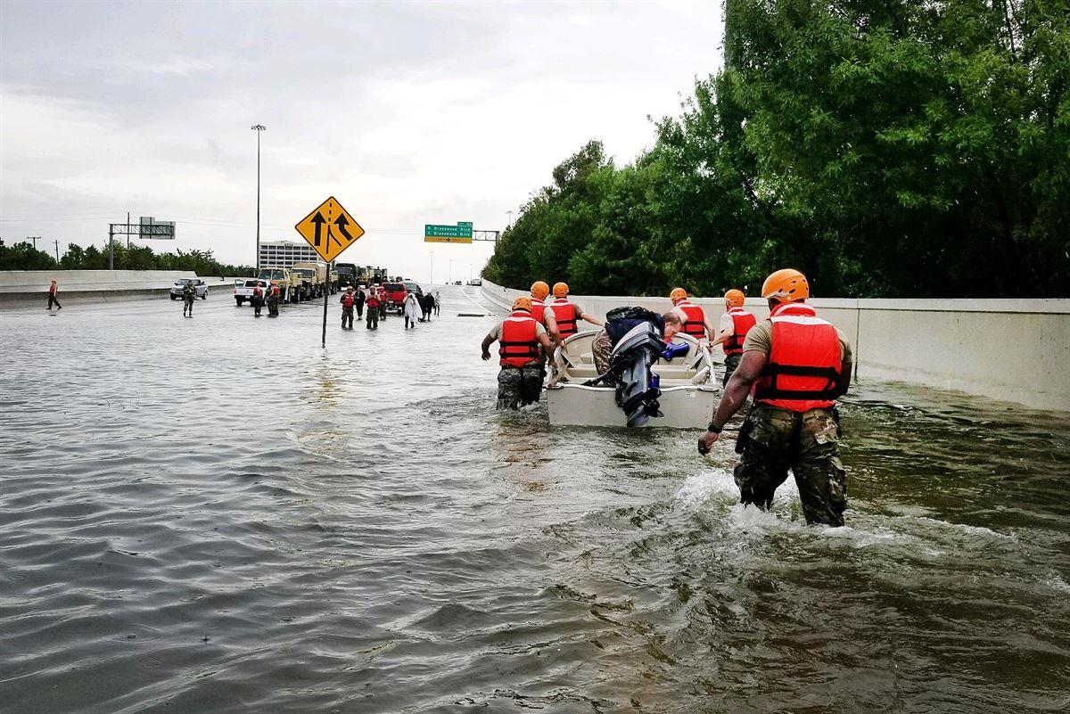 Malgré le passage de l'ouragan Harvey dans le sud des Etats-Unis, les TO n'ont pas rencontré de problème particulier - photo libre de droit, Army National Guard - Lt. Zachary West
