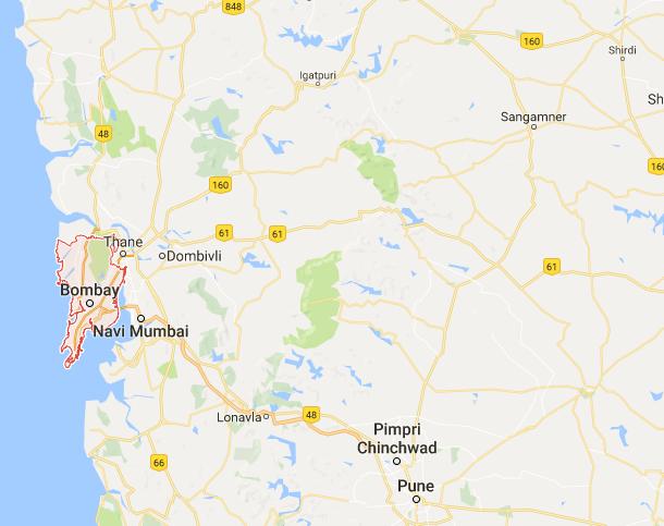 Les inondations provoquent des très grosses perturbations sur l'ensemble des transports dans certains quartiers de Bombay - DR : Google Maps