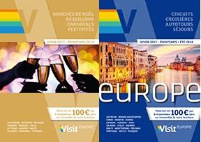 Les deux nouvelles brochures de Visit Europe pour l'hiver 2017/2018 - DR : Visit Europe