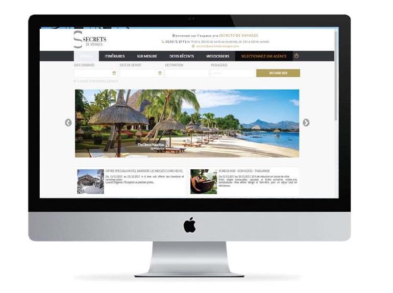Le nouveau site professionnel de Secrets de Voyages en direction des agences - DR