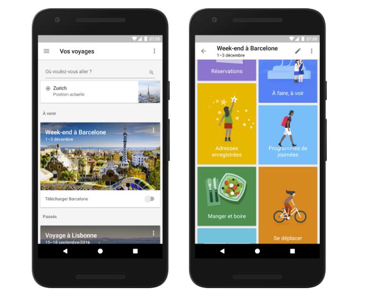 Google lance la version française de Google Trips (c) google