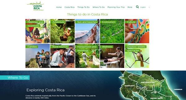 Avec plus de 40 000 voyageurs au 1er semestre 2017, la France est le premier pays européen émetteur de touristes pour le Costa Rica - DR : Copie écran visitcostarica.com