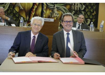 Didier Kling, Président de la CCI de région Paris Ile-de-France, et Frédéric Jouët, Président de l'Union Française des Métiers de l'Événement (UNIMEV)