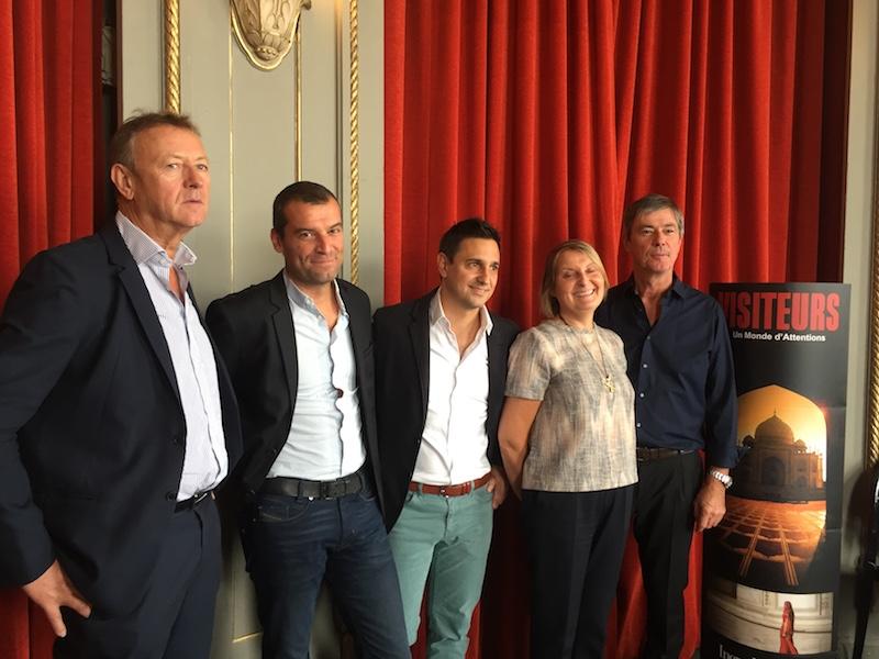 Les dirigeants de Visiteurs, réunis mercredi 13 septembre à Paris pour une conférence de presse © PG