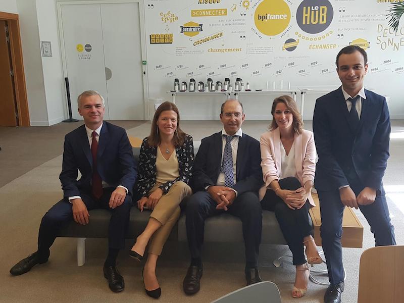 Les dirigeants du fonds France investissement tourisme, le 12 septembre au hub BPIfrance © BPI