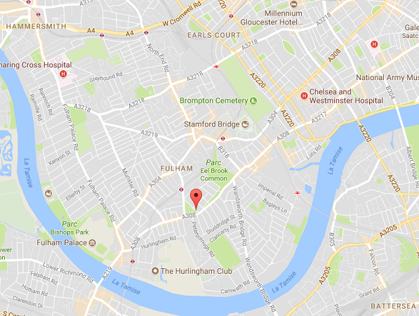 L'explosion s'est produite dans la station de métro londonienne de Parsons Green - DR : Google Maps